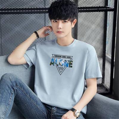 江苏徐州邳州青少年纯色宽松男装路桥批发衣服的市场在哪里T-shirt男式工厂大量
