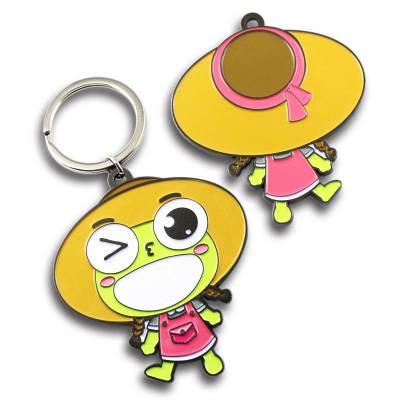 韩系钥匙扣生产,镜面珐琅钥匙吊牌,广州 五金钥匙吊坠定做厂