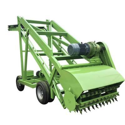 机械横移牛草取料机 加大动力牛场取料车 隆顺造青储牛草扒料机