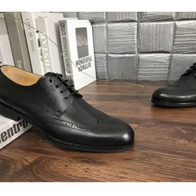 高端定制新品皮鞋男商务正装百搭休闲鞋一脚蹬乐福鞋***大脚小脚男鞋定制