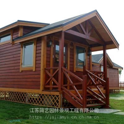 防腐木木屋工程活动木结构房子木质休闲建筑南京园林景观工程公司