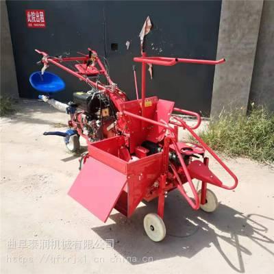 大轮胎玉米收割机 多功能汽油收获机 农业机械