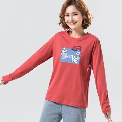 北京女装批发休闲学生长袖女T恤 外贸出口女装春秋装山西忻州一手衣服