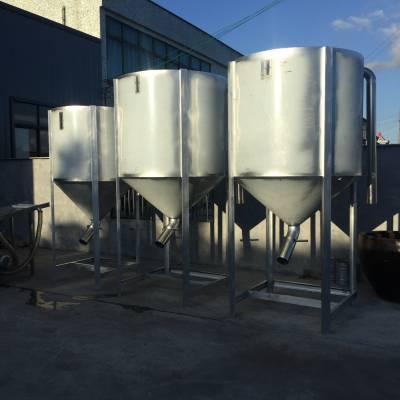 厂家直供不锈钢塑料颗粒储料斗优质立式不锈钢储料桶仓塑机吹料桶