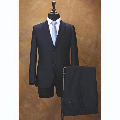 贵州管理服订做***商务西服订做批发西服YHY5002藏青色50%羊毛男西装