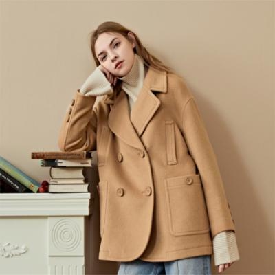 潮流羽绒服时尚中长款加厚大毛领欧美韩版大版外套品牌女装走份女装批发市场