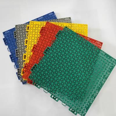 多功能性悬浮拼装地板 室内外运动场塑胶地板 拼装简单 可直接铺装 符合运动场技术要求 宜州区