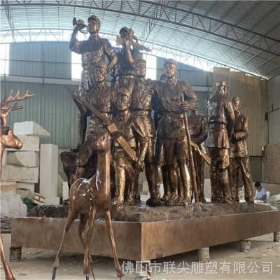 玻璃钢人物雕像厂家 玻璃钢战士人物雕塑报价