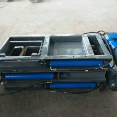 DYLV-0.6型电液动推杆平板闸阀 插板阀 双缸配置平板闸门安源直销