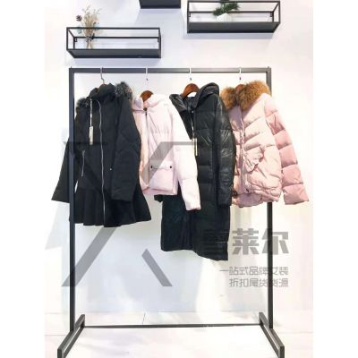 熙兰雅长款羽绒服品牌女装折扣找广州雪莱尔货源新款组货包
