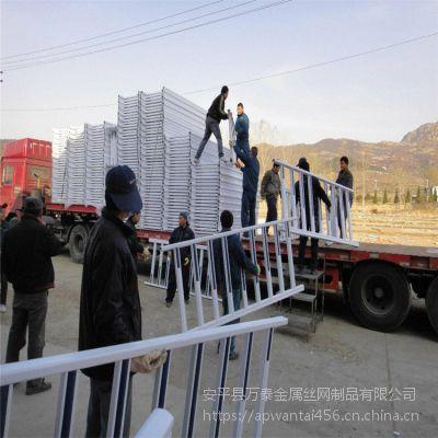 马路隔离护栏 人行道护栏 白色市政护网