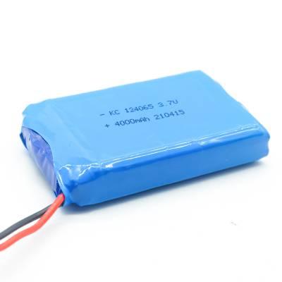 聚合物锂电池124065大容量4000mAh电子猫眼美容仪 3.7V充电锂电池