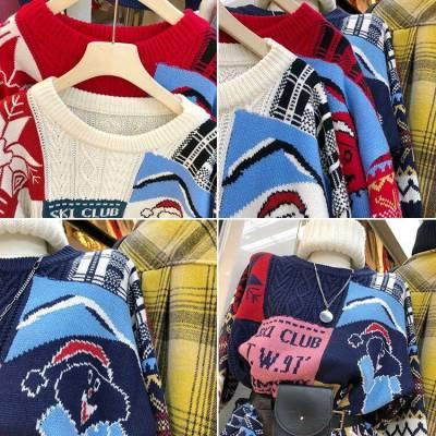 两三块毛衣批发秋冬针织衫杂款尾货加厚加绒毛衣时尚新款女式毛衣外套