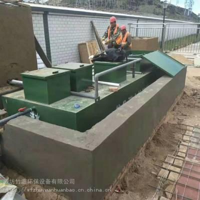 新农村生活污水一体化处理设备安装现场,地埋式污水处理设备、MBR一体化污水处理设备-竹源环保