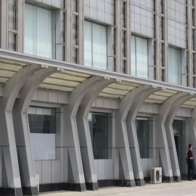 办公楼遮阳雨棚铝单板厂家 氟碳烤漆雨棚铝单板