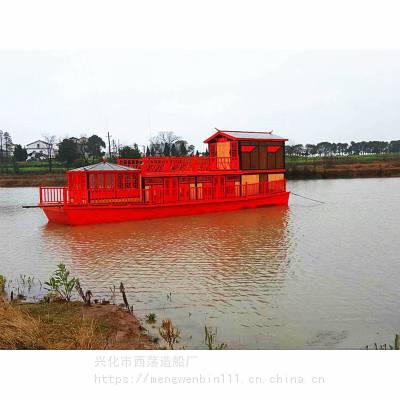 滁州明光古色古香餐饮木船采购
