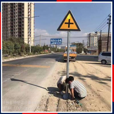 山东东营交通安全标志牌杆件F型标识杆产地现货直销