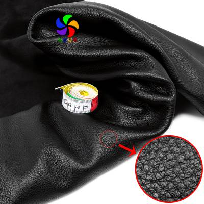 黑色自然摔纹头层牛皮 荔枝纹柔软牛皮 包袋鞋子通用 1.4-1.6mm