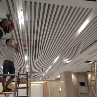 墙面铝方通造型 异型铝方通吊顶 造型铝方通吊顶厂家