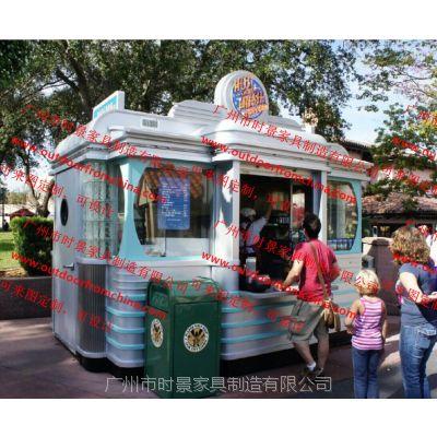 无锡商业街售卖亭,南京主题乐园贩卖花车,移动商亭,奶茶饮料小卖部
