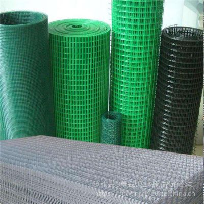 绿色浸塑电焊网 小孔铁丝网 包塑PVC防护网