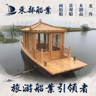 加工定制水上大型观光船 景区游玩船 水乡玻璃钢游船