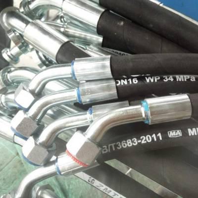 不锈钢胶管总成 钢丝缠绕钻探胶管 高压胶管总成液压油管