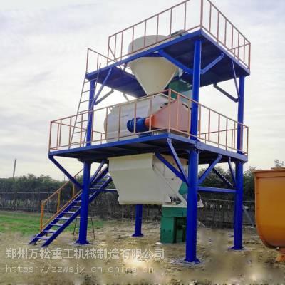 干粉腻子混合机 干粉生产设备 粉刷石膏砂浆生产线万松厂家优惠