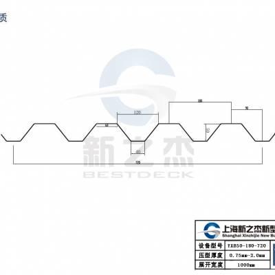 上海厂家YX50-180-720开口楼承板现货可定制