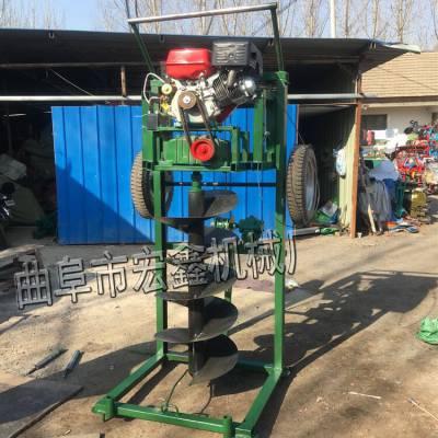 支架式挖坑機廠家 拖拉機帶植樹挖坑機 汽油植樹挖坑機 宏博
