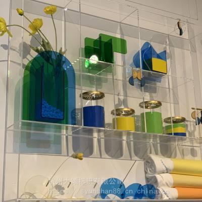 浙江杭州厂家半透明亚克力制品磨砂彩色有机玻璃罩子盒子珠宝首饰化妆品电子产品玩具展示盒陈列道具展柜展架