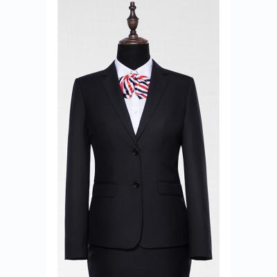 贵州管理服订做贵阳西装职业装定制高端女西服定制GY71266黑色70%羊毛面料西装
