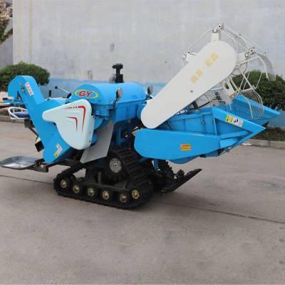 丘陵水田聯合收割機 全喂入式聯合收割機 小型稻谷聯合收割機