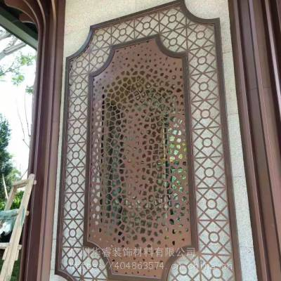 玻璃水切割加工,做到无刀痕无水纹 金属工艺品加工 屏风隔断效果图片