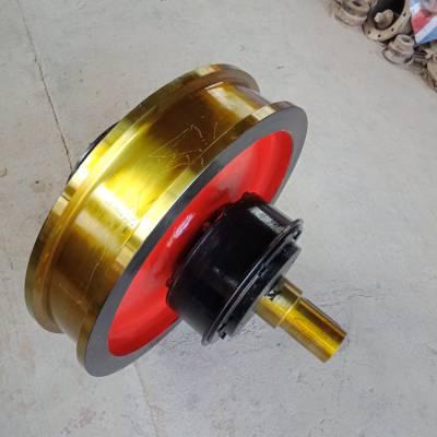 厂家直销 φ500*130车轮组 单缘从动车轮组 铸钢行车轮