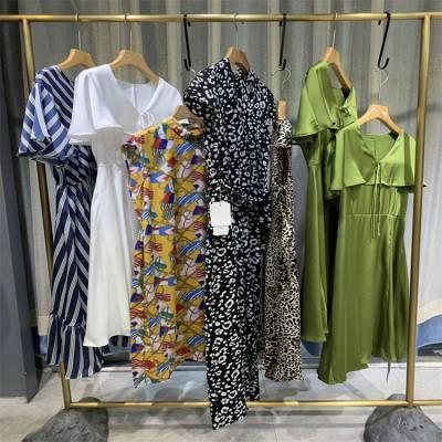 舒丽装点 大码连衣裙 厂家尾货处理 雪纺连衣裙批发 女装批发市场