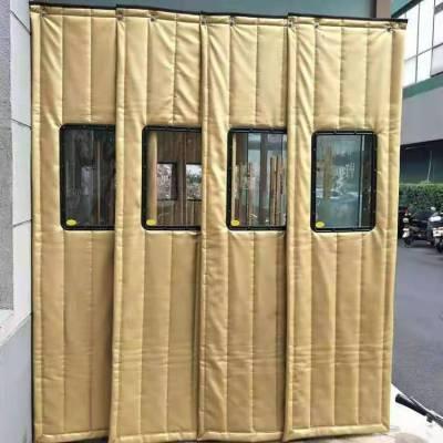 锦州市朗利洁定做超市保暖pu棉门帘生产销售 大视窗棉门帘生产规格 牛津布棉门帘