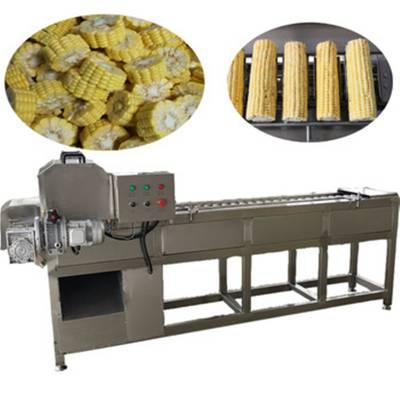 全自动水果玉米切割机 速冻玉米切头去尾机 小型甜玉米切段机 玉米切段设备