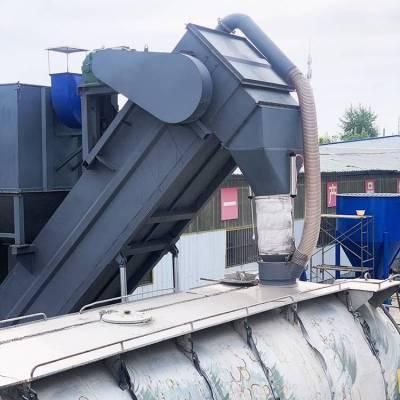 大产量集装箱卸水泥粉煤灰输送设备-移动式粉料全自动卸车机