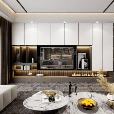 华侨城大平层装修,嘉陵江天160户型设计方案,天古装饰礼嘉店地址
