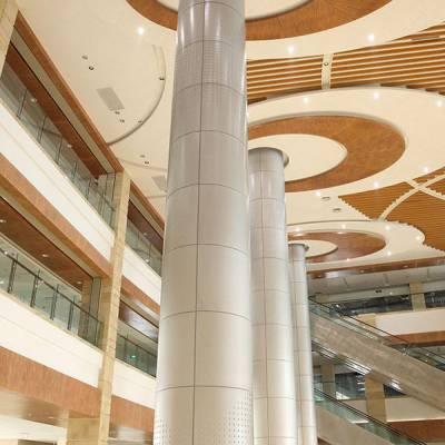 【室内氟碳包柱铝单板】-包柱铝单板幕墙-弧形室内包柱板