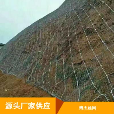批量供应边坡防护网_博杰菱形山体覆盖柔性防护网