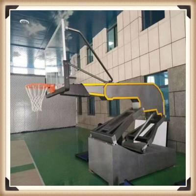 烟台 手动液压篮球架 可投篮篮球架 篮球框生产厂家