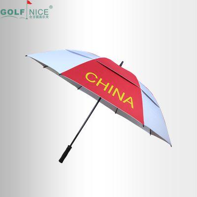 中棒纤维雨伞 210T双层高尔夫伞 8骨中国队伞 定制logo