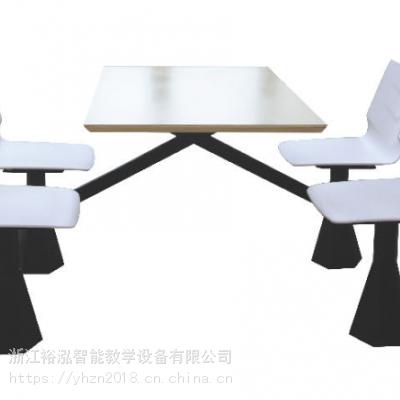 厂家直销四人位联体餐桌/钢木餐桌/学生餐桌/竹木餐桌/餐桌椅/钢木餐桌