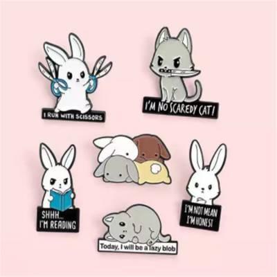 动漫卡通徽章定制 宠物形状礼品胸章定做 公司礼品司徽订做