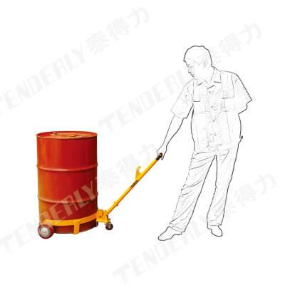 供应DC500低放型油桶搬运车,载荷360KG,用于油桶搬运