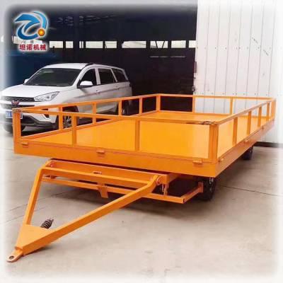 定制淮北牵引平板车 重型搬运工具车 车间搬运牵引平板拖车