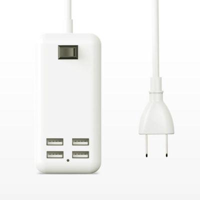 4U充电器安卓usb插头排插多用功能手机通用快速多孔3A快充***多头6***三合一插座原装适用