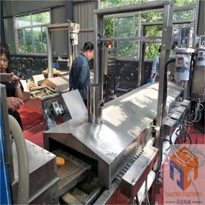 小型汉堡肉饼成型机 牛肉饼上浆裹糠油炸生产线 模具成型多样可定制